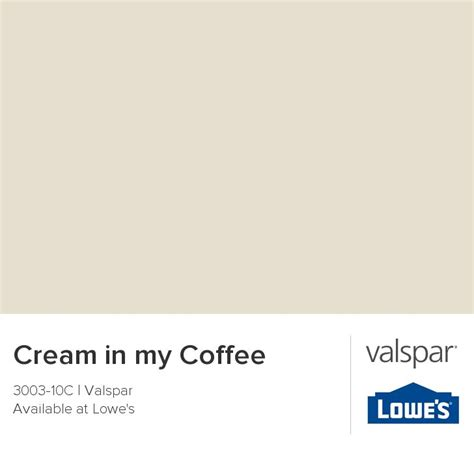 in my coffee from valspar dining room