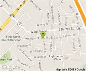 map of burleson our place restaurant in burleson tx 140 s wilson st