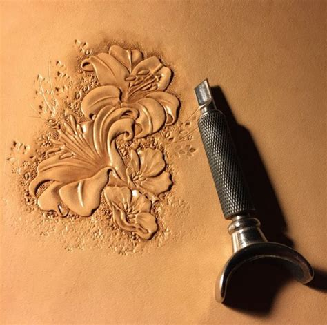 Flower Pattern Leather flower work leather tooling flower