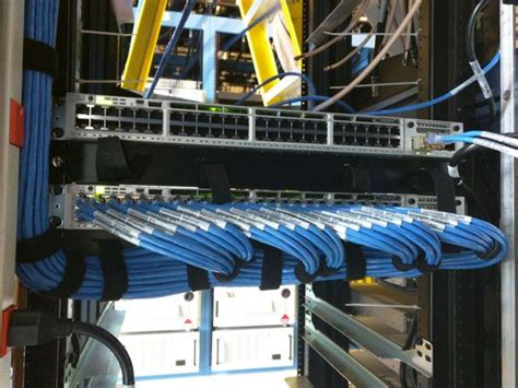 Inter Rack Cabling by Network Cable In Data Closet Setting Up A Small Business