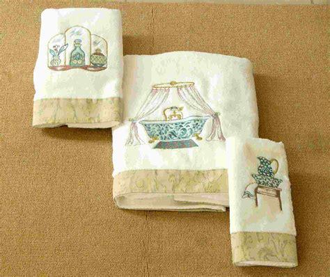 embroidery towel bath set bathroom display pinterest decorative towels