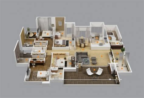 4 Bedroom Layout by 4 Bedroom Apartment House Plans