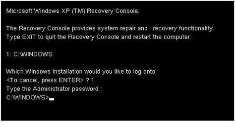 windows xp recovery console recovery console win xp kangtokkomputer