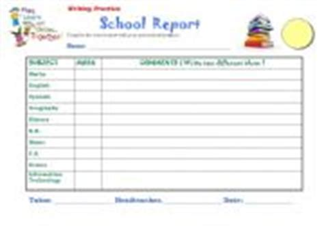 esl report card template worksheets report card template