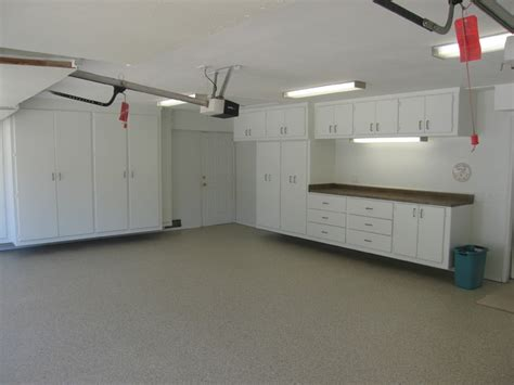 garage renovations garage renovation loft cabinets epoxy traditional