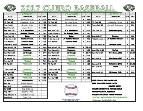 cuero basketball schedule 2017 gobbler baseball schedule