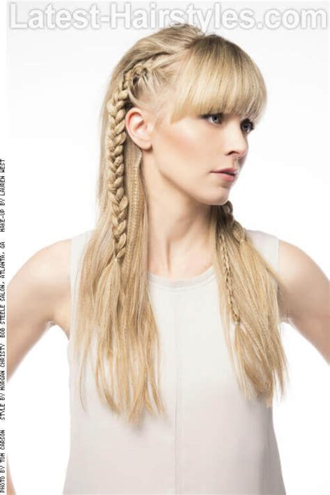 bangs braids and long hairstyles 60 best long hair with bangs for women in 2018