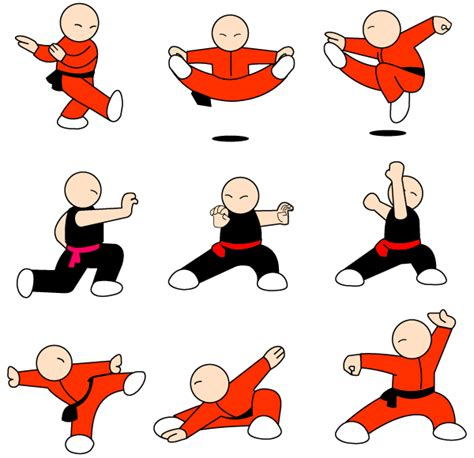 Summer Decoration Kung Fu Character Free Vector Pack Free Vector 365psd Com