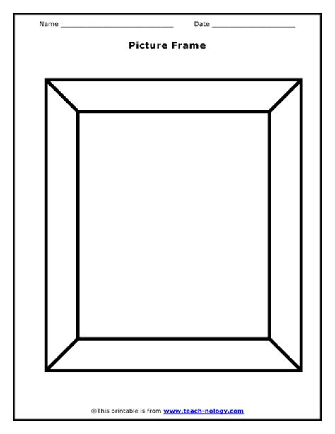 printable picture frames templates picture frame