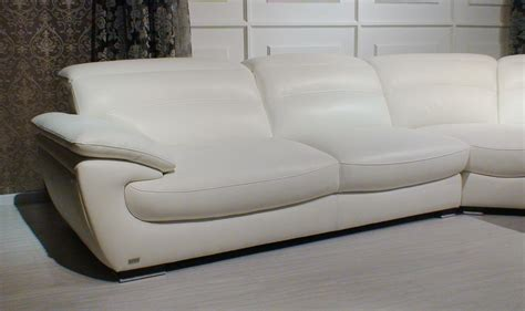 Contemporary White Leather Sofa Miracle Contemporary White Leather Sectional Sofa