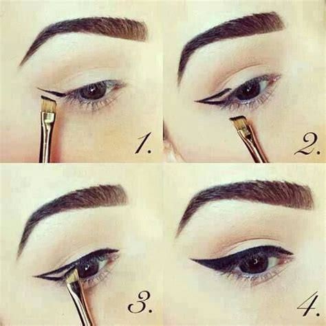 tutorial eyeliner simple useful how to draw perfect eye liners pretty designs