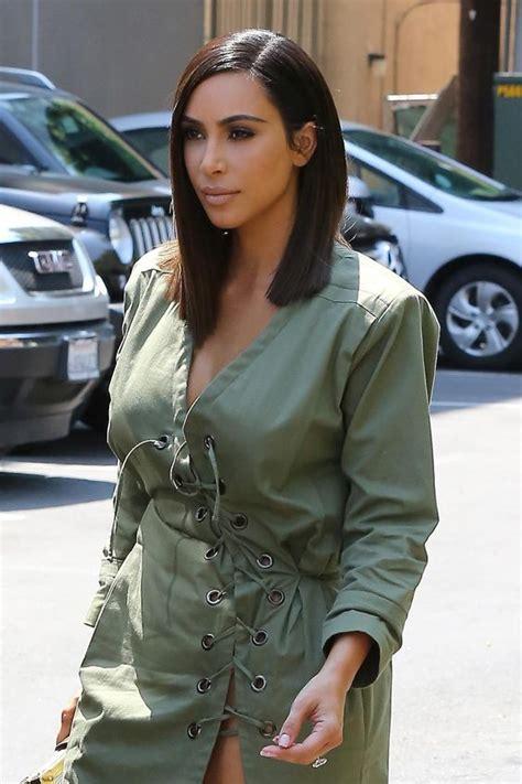 kim kardashian long bob hair kim kardashian west goes for the shoulder length chop
