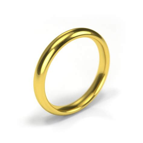 18ct yellow gold wedding ring 3mm band wedding dress from