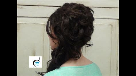 cascading side updo for hair prom or weddings hairstyles