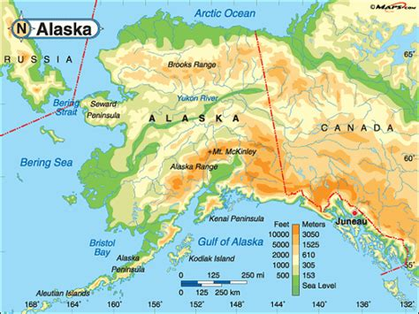 map of the united states with alaska alaska map