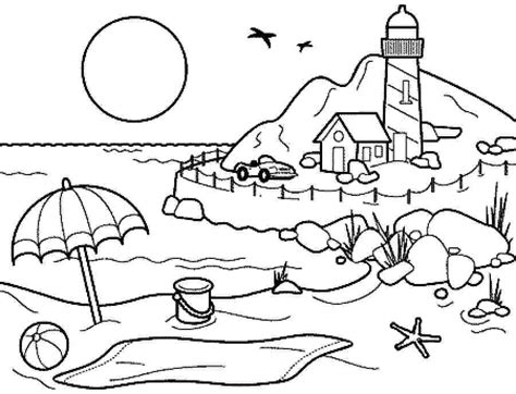 summer coloring sheets coloring pages summer season pictures for drawing