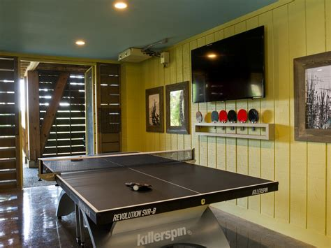 Room Needed For Ping Pong Table by Yellow Room With Ping Pong Table Photos Diy