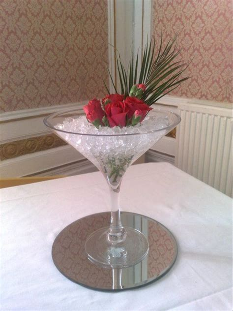 Martini Glass Vase Flower Arrangement by 1000 Images About Glass Flower Arrangements On