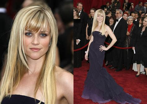 Reese Witherspoon At The 2007 Oscars by Oscars Carpet Reese Witherspoon Popsugar Fashion