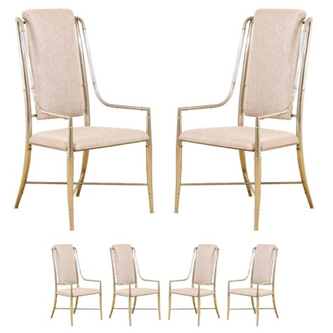 unique dining room chairs unique set of six pewter dining chairs by mastercraft for