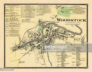 woodstock map vermont 1869 woodstock town county stock