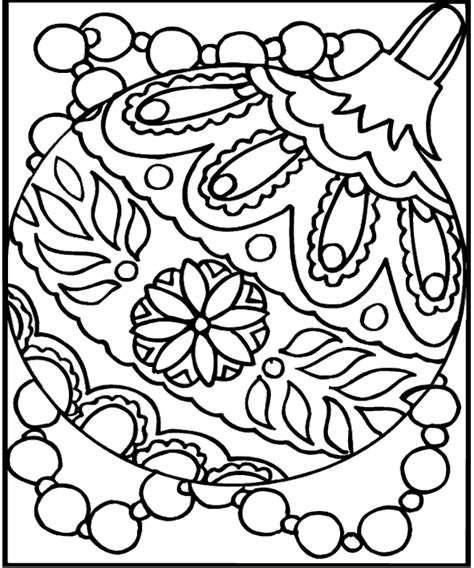 christmas ornament kids coloring sheets realistic