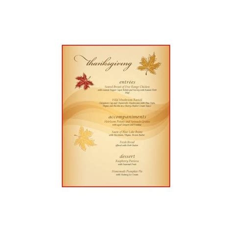 thanksgiving menu template printable 8 best images of free printable thanksgiving menu
