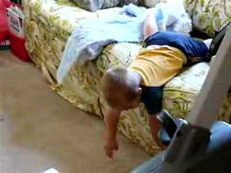 baby fell from sofa baby t falling off couch youtube