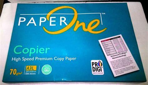 Kertas Hvs Paper One A480 Gram harga kertas hvs a3 70 gr paper one
