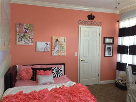 fashion bedroom black coral coral room decor google search girls room