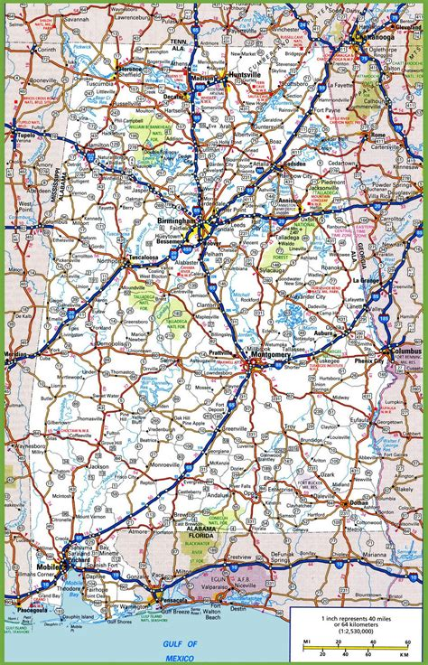 road map of road map of alabama usa maps of usa