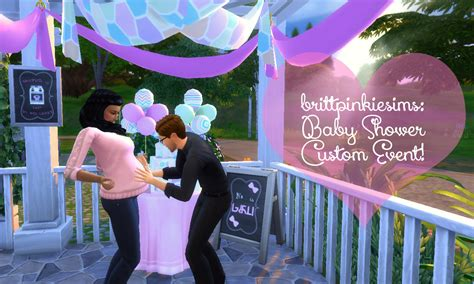 Mod Baby Shower Decorations by My Sims 4 Updated The Sims 4 Baby Shower Custom