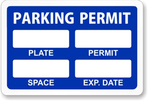 parking permit template free parking pass template wordscrawl