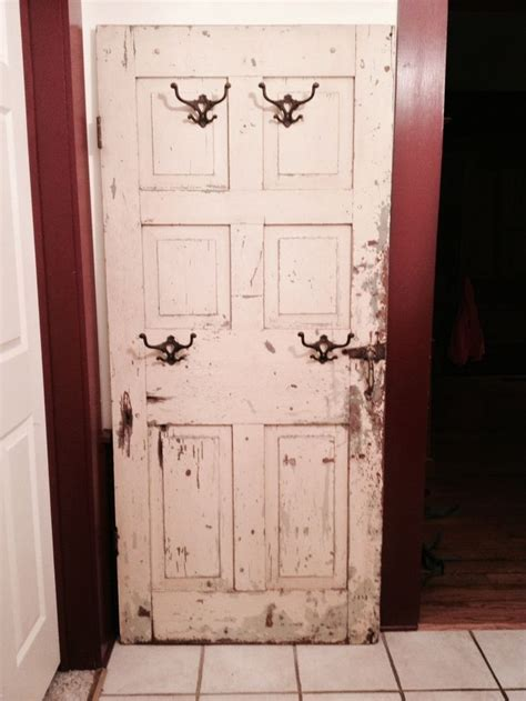 Door Coat Rack by Coat Rack Made From An Door Home Ideas