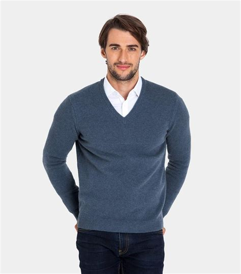 V Neck Knit Sweater 1 mens lambswool v neck knitted sweater