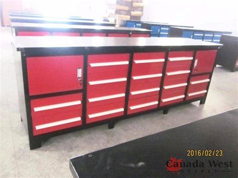 metal shop bench new design 18 drawer steel shop tool bench red 18drr1