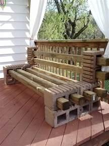 cinder block patio furniture diy cinder block outdoor bench the owner builder network