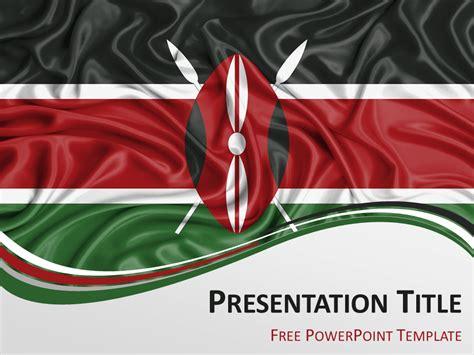 kenya flag powerpoint template presentationgo com