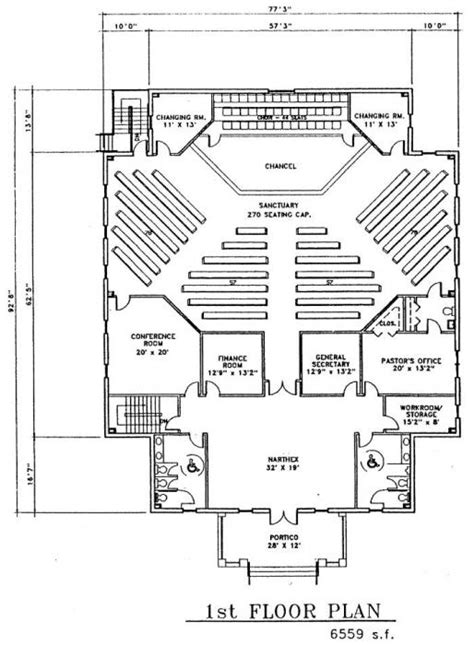 Church Plan 149 Lth Steel Structures Modern Church Floor Plans Designs