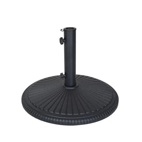 hton bay 110 lbs patio umbrella base in black dumb 50