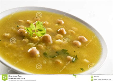potage de pois chiche photos libres de droits image