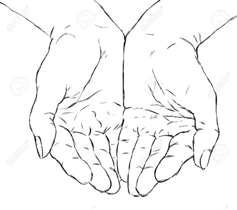 Cupped Outline by Two Open Clipart 68