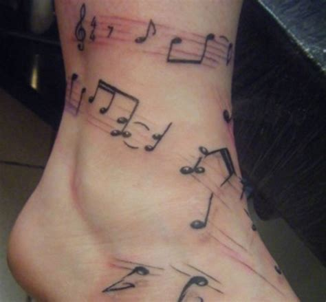leg musical notes tattoo tattoo pinterest note