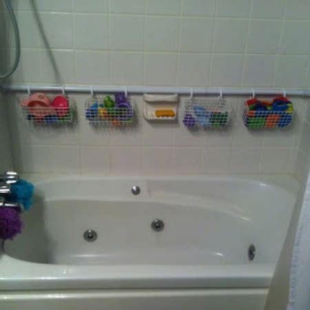 bathtub storage solutions 20 simple and affordable diy toy storage ideas