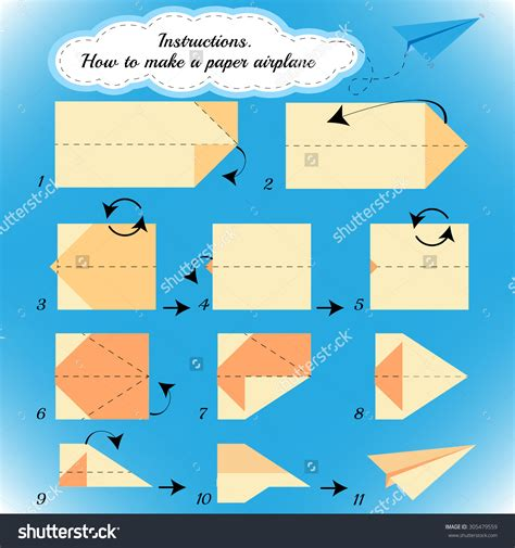 Step By Step To Make A Paper Airplane - origami origami origami airplane how to make