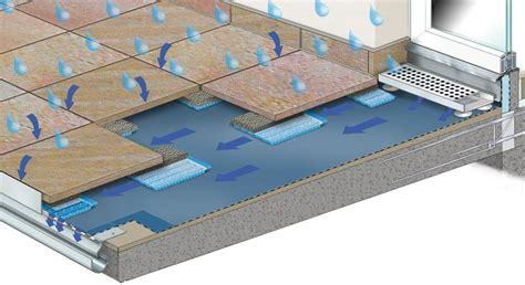 gutjahr fliesen drainierendes stelzlager vermeidet feuchteflecken drain