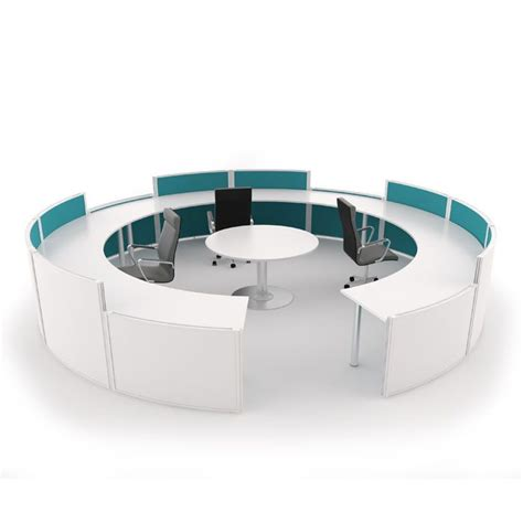 Curved Free Standing Screen Reception Desk Round Reception Desk Screen