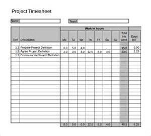 time sheets template excel 11 project timesheet templates free sle exle