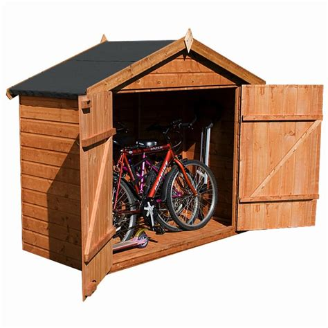 Small Wooden Bike Shed by 7 X 3 Waltons Tongue And Groove Apex Wooden Bike Shed
