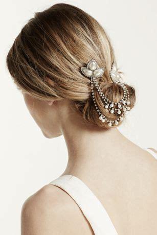 davids bridal hairstyles pearl and rhinestone swag comb david s bridal